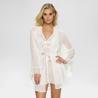 Jezebel® Women's Hela Chiffon Kimono - Off-white L/XL