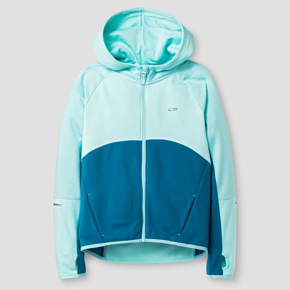 C9 Champion Girls' Textured Tech Fleece Full Zip - Blue S, Women's, Size: Small, Green