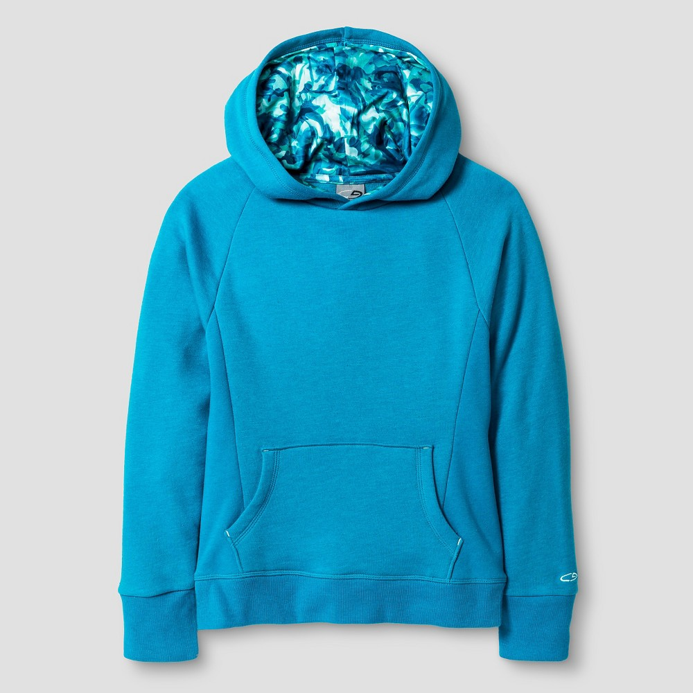 C9 Champion Girls' Fleece Hoodie - Heather Blue XL, Women's