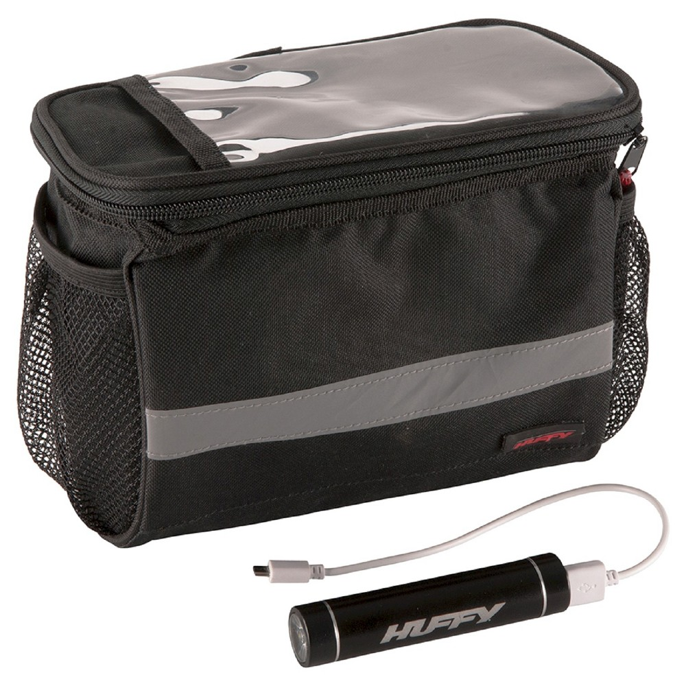 Huffy Smartphone Handlebar Bag with Cooler & powerpack - Black