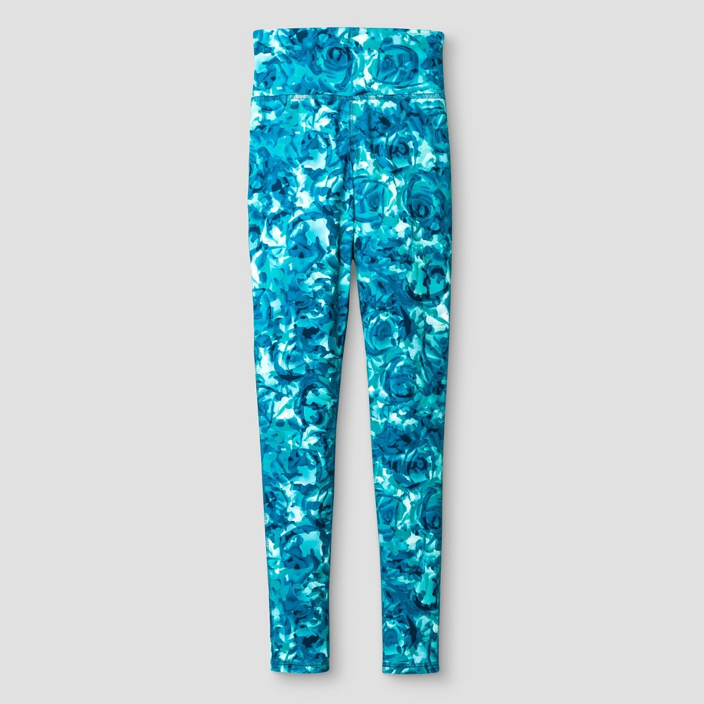C9 Champion Girls' Printed High Waisted Performance Yoga Legging - Turquoise S, Women's, Size: Small, Pink
