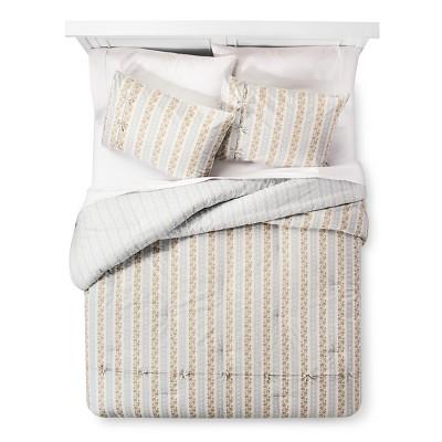 Canary Jane Reversible Comforter and Sham Set (King) Blue 3-Piece - Beekman 1802 FarmHouse™