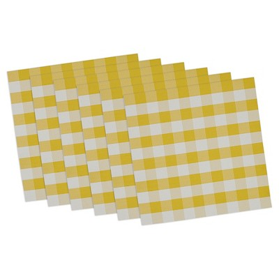 Checkers Placemat Yellow (Set of 6) - Design Imports