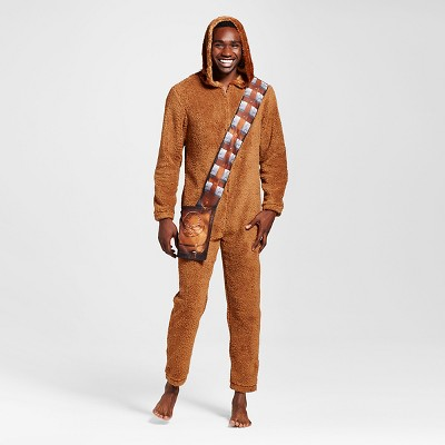 Men's Chewie Union Suits Brown Large - Star Wars Full body sleepwear