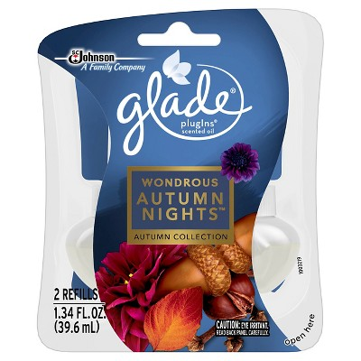Glade Fall PlugIns Scented Oil Refills 2ct - Wondrous Autumn Nights - 1.34 oz