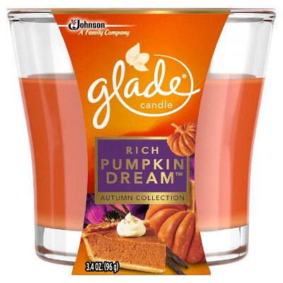 Glade Fall Candle Rich - Pumpkin Dreams - 3.4 oz