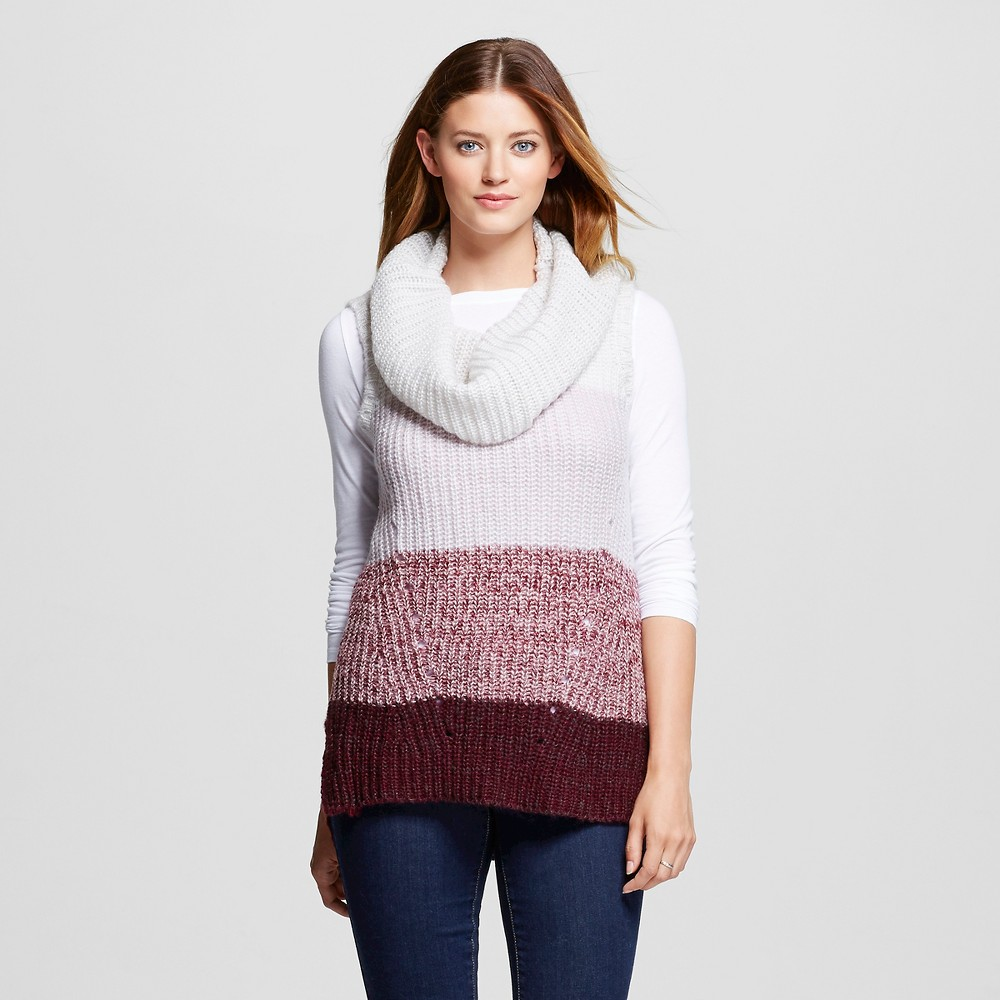Women's Cowl Neck Sweater Tank Burgundy (Red) S - Knox Rose, Size: Small