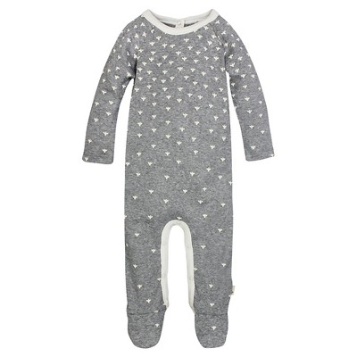 Burt's Bees Baby™ Union Suit - Grey 0-3M