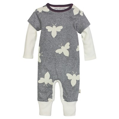 Burt's Bees Baby#153; Giant Bee Coverall - Ivory 0-3M