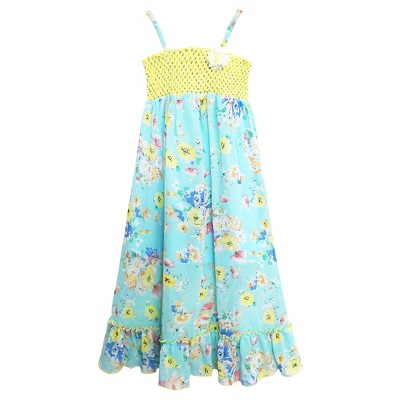 Sara Sara Neon Baby Girls' Empire Maxi Dress 18M - Yellow