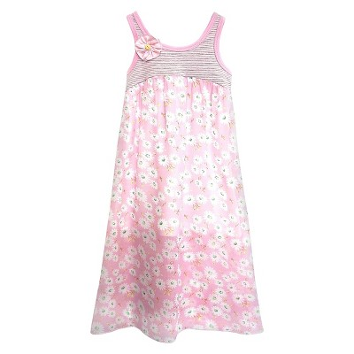 Sara Sara Neon Baby Girls' Empire Floral Maxi Dress 18M - Pink