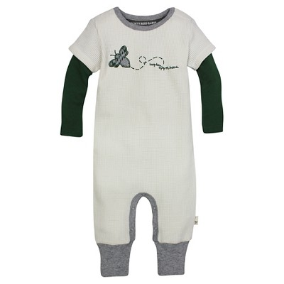 Burt's Bees Baby™ Thermal Coverall - Pine 0-3M