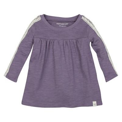 Burt's Bees Baby™ Girls' Crochet Sleeve Tee - Lilac 0-3M