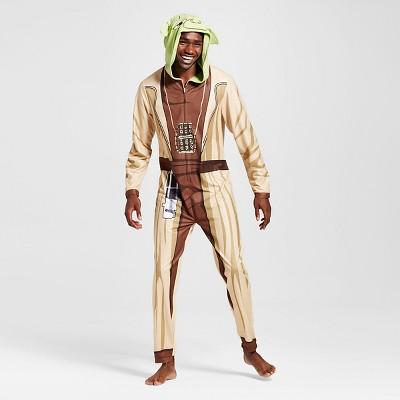 Men's Yoda Union Suits Multi-color XLarge - Star Wars Full body sleepwear