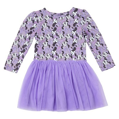 Baby Girls' Minnie Mouse A line dresses - Lilac 12M