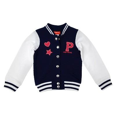 Toddler Girls' Paw Patrol Varsity Jacket - Blue 2T