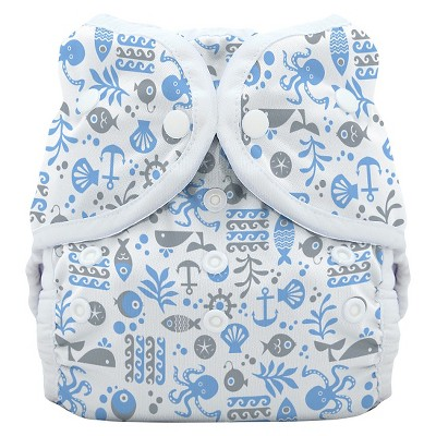 Thirsties Snap Duo Wrap, Ocean Life - Size One