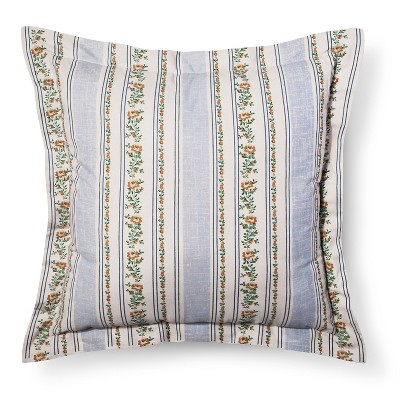 "Canary Jane Striped Pillow (26""x26"") Multicolored - Beekman 1802 FarmHouse™"