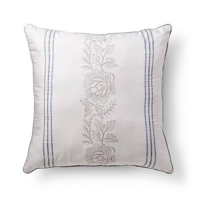 "Jasmine Floral Striped Pillow (26""x26"") Multicolored - Beekman 1802 FarmHouse™"