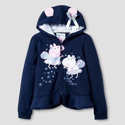 Girls' Peppa Pig™ Costume Hoodie - Navy XS
