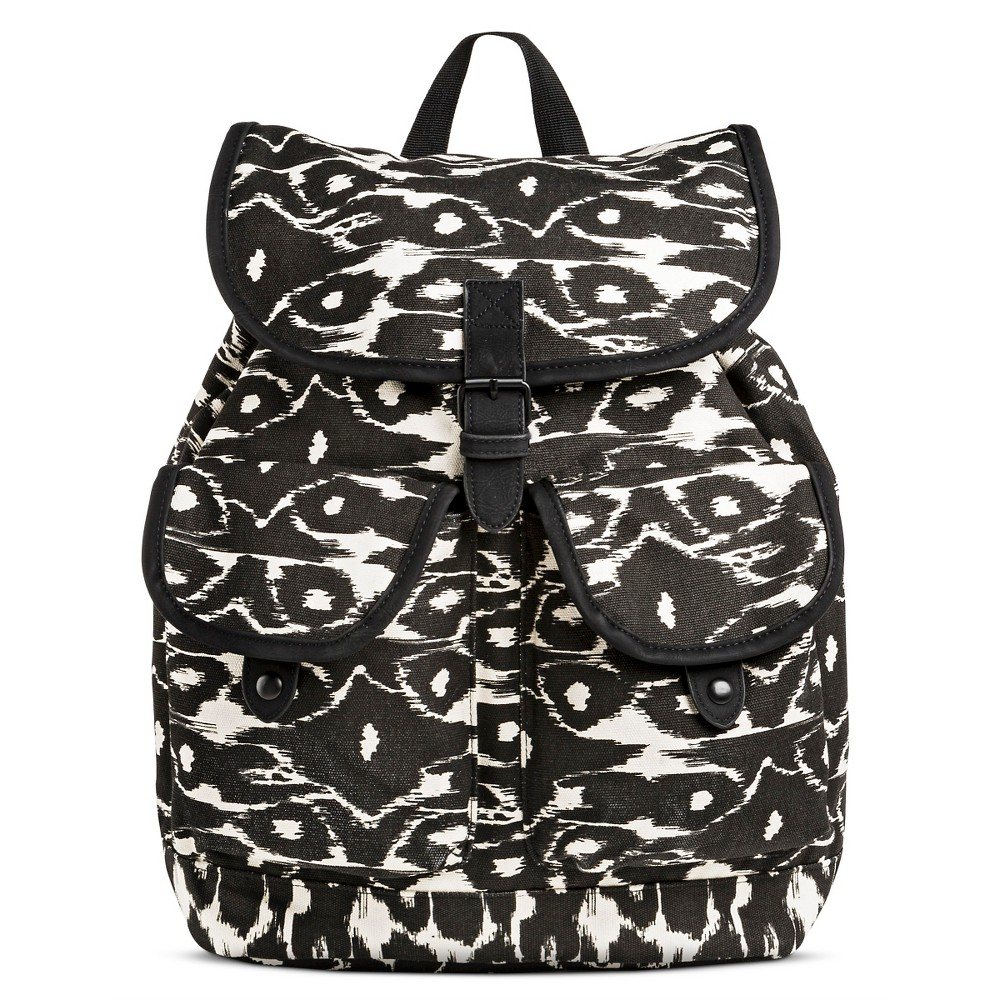 81e3579dd75b Dickies Women s Canvas Backpack Handbag with Ikat Design and Drawstring  Closure – Black