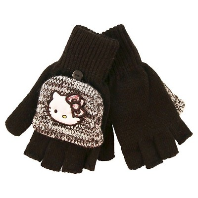 Girls' Hello Kitty Gloves - Black One Size