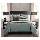 Ellington Comforter Set Queen Blue 7 Piece - VCNY®