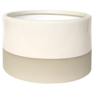 Large Round Vase Sour Cream with Crackle Glaze Smith & Hawken™
