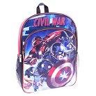 "Marvel Captain America Civil War Backpack - Blue/Red (16"")"