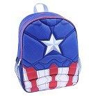 """Marvel Captain America Boys Backpack - Blue/Red (16"""")"""