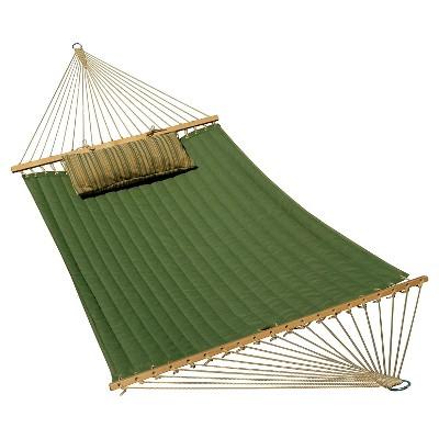 Algoma 13' Sunbrella Quilted Hammock - Reversible- Meadow Green