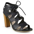 Women's Journee Collection Heeled Lace-Up Gladiator Sandals