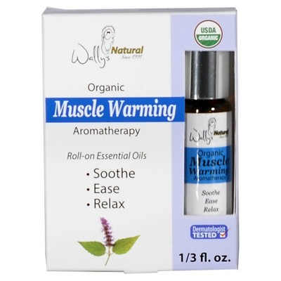 Wally's Natural Organic Muscle Warming Roll on Essential Oil 0.33 oz