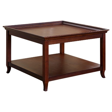 Carson 36 Inch Square Wood Coffee Table Brown Abbyson Living