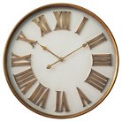Infinity Instruments Wood Clock - White/Gold