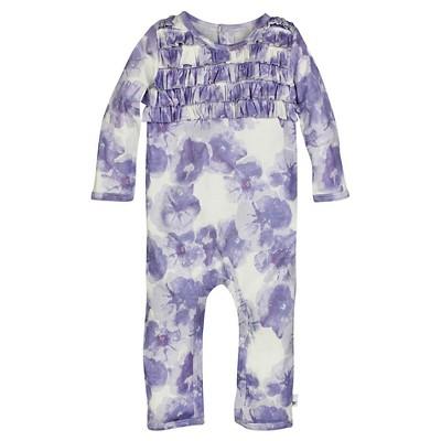 Burt's Bees Baby™ Girls' Petunia Ruffle Coverall - Lavender 0-3M