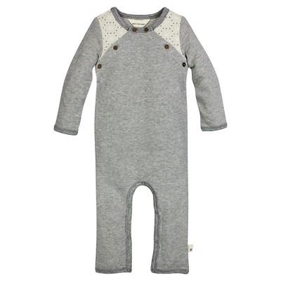 Burt's Bees Baby™ Girls' Crochet Coverall - Heather Grey 18M
