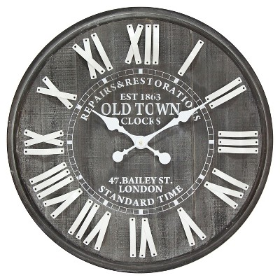 Infinity Instruments Old Town London Clock - Black