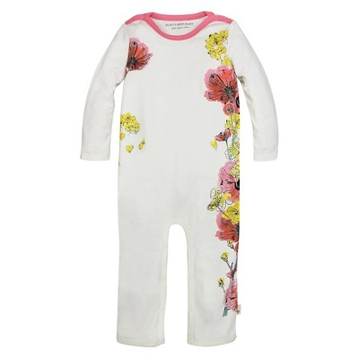 Burt's Bees Baby™ Girls' Flowers Coverall - Off White 3-6M