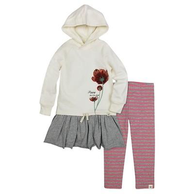 Burt's Bees Baby™ Girls' Hooded French Terry Dress & Legging - Off White 18M