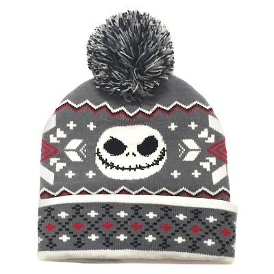 Boys' Nightmare Before Christmas Beanie Hat - Grey
