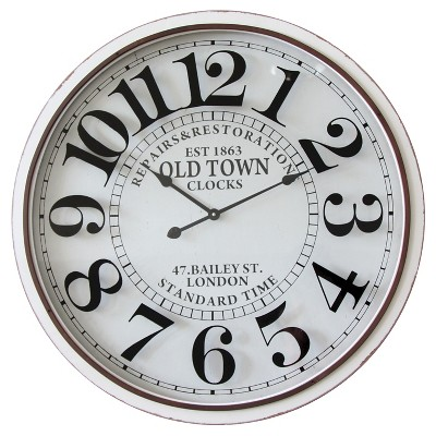 Infinity Instruments Old Town London Clock - White