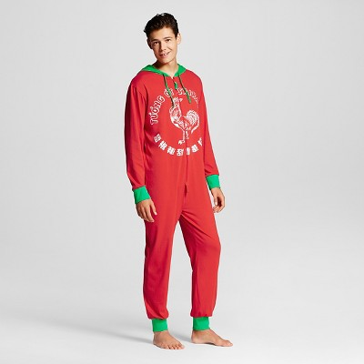Men's Sriracha One piece Union suits Red-XL