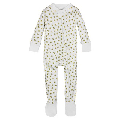 Burt's Bees Baby™ Honey Bee Sleeper - White 3-6M