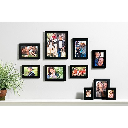 10 PIECE LINEAR WOOD FRAME SET - BLACK