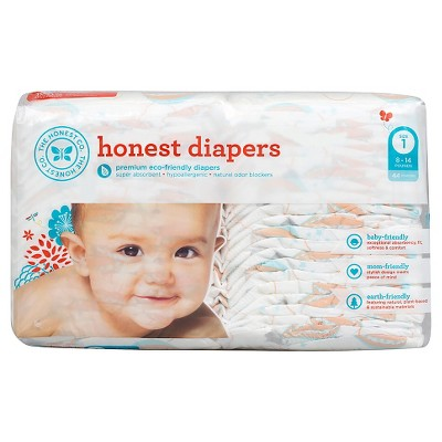 Honest Company Diapers Balloons Jumbo Pack - Size 1  (44 Count)