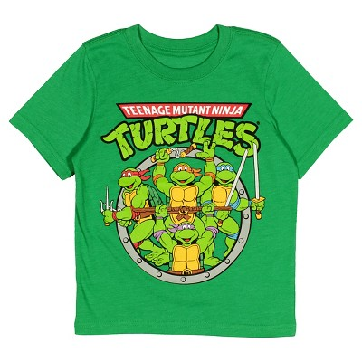 Baby Boys' TMNT® Short Sleeve T-Shirt - Heather Green 18 M