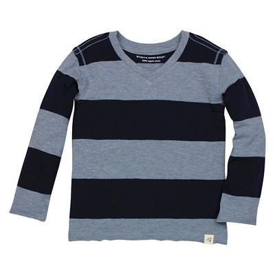 Burt's Bees Baby™ Boys' Rugby Stripe Tee - Dark Blue 0-3M