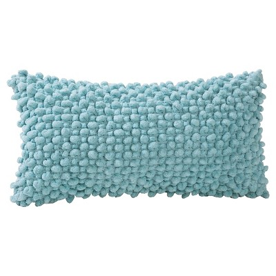 "Popcorn Throw Pillow Aqua (9""x18"") - VCNY®"