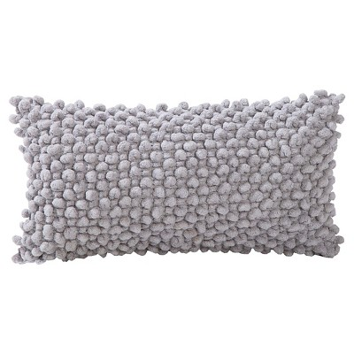 "Popcorn Throw Pillow Grey (9""x18"") - VCNY®"